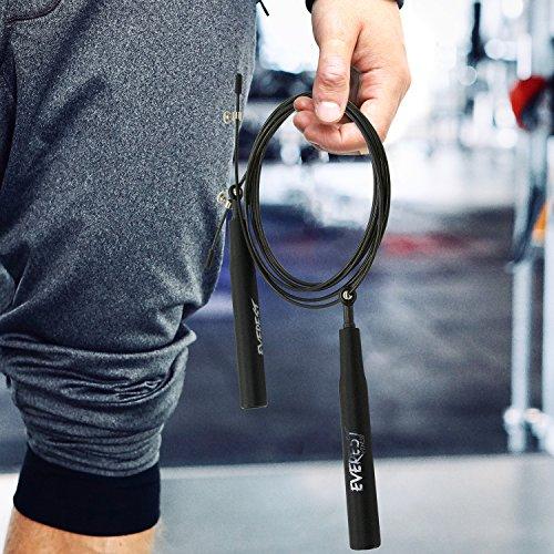 EVEREST FITNESS Profesional comba con rodamientos de Bolas para Deportistas   con 2 años de garantía de satisfacción   High Speed Cuerda