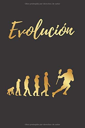 EVOLUCIÓN: CUADERNO LINEADO | Diario, Cuaderno de Notas, Apuntes o Agenda | Regalo Creativo y Original para los Amantes del Lacrosse
