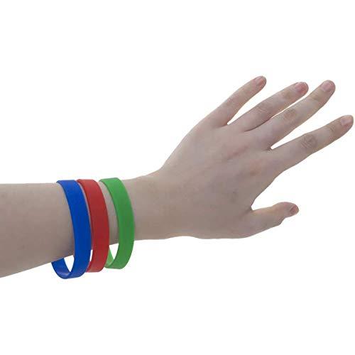 ExeQianming 10 pulseras de silicona para hombres y mujeres, decoración de fiestas deportivas, multicolor