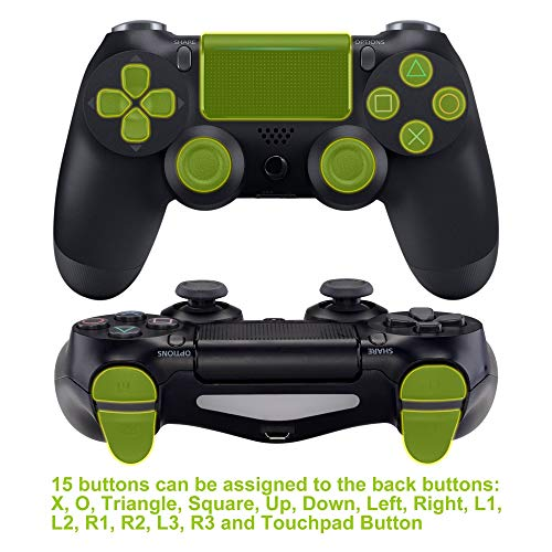eXtremeRate Dawn Programable Remap Kit PS4 Scuf Reasignación de Botones para Playstaion 4 con Mod Chip&Carcasa Trasera&4 Botones Traseros Compatible con PS4 JDM 040/050/055(Fibra de Carbono)