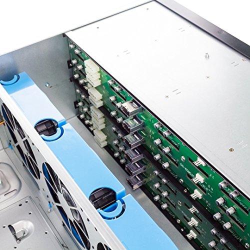 "Fantec SRC-4240X07 - Recinto de Almacenamiento de 19"" Rack para 24 Discos Duros de 3,5"" SAS/SATA, Indicadores LED, Ventilador, Color Plata"