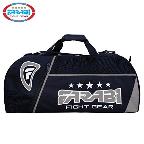 Farabi - Bolsa de deporte para gimnasio, MMA, bolsa de viaje, bolsa de entrenamiento (gris)