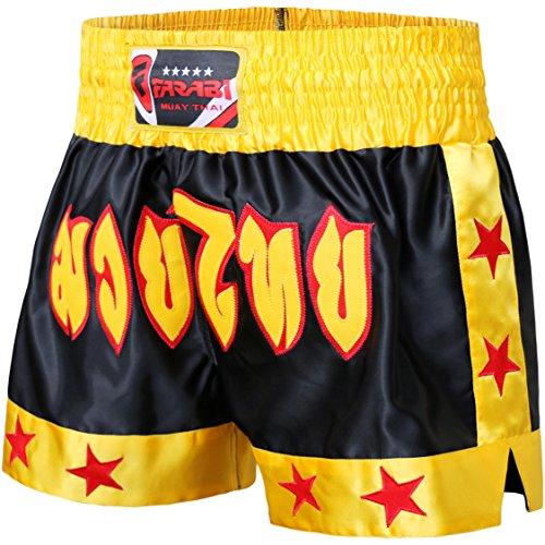 Farabi Muay Thai Short Kickboxing MMA Mix Martial Arts Training Short Boxing Trunk (S)