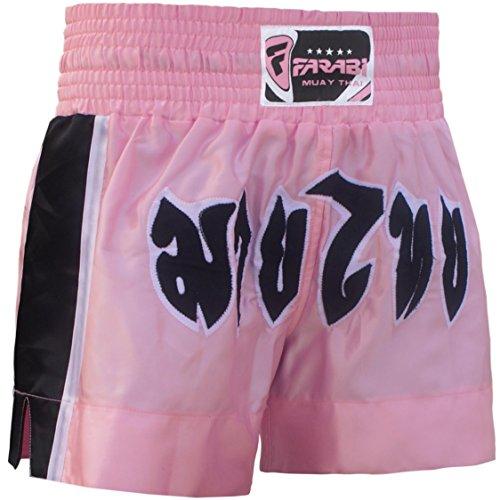FARABI Muay Thai Shorts Rosa Medio