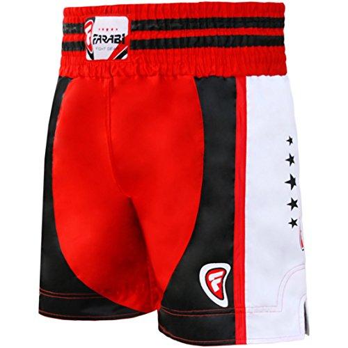 FARABI - Pantalones cortos de combate para boxeo MMA Muay Thai