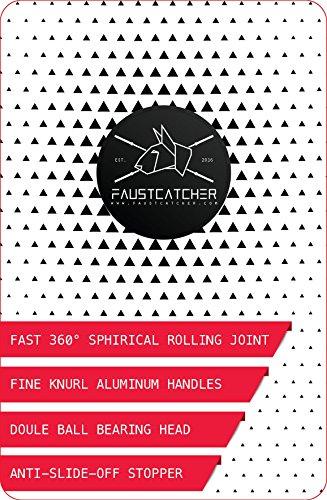 FAUSTCATCHER 360° Speed Rope - Comba de alta Velocidad Aluminio - CrossFit Boxeo Double Unders Ajustable