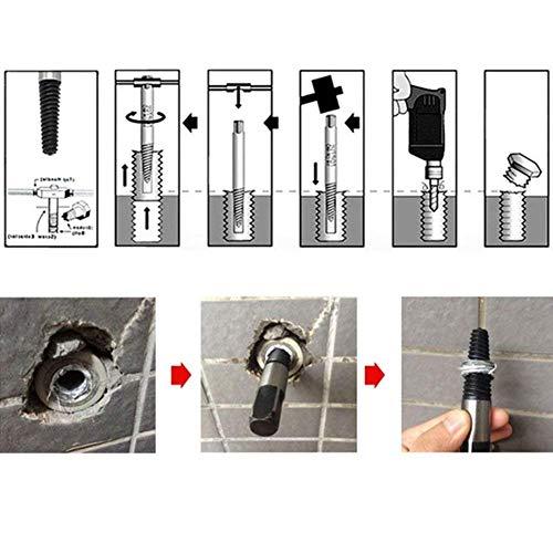 Favson - Juego de 8 extractores de tornillos dañados para tuberías de agua con pernos rotos