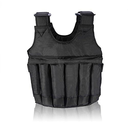 fdit ajustable Peso West gewichtete Chaleco/Chaquetas Ejercicios Entrenamiento Chaleco carga máxima 20kg/50kg, tamaño 50kg