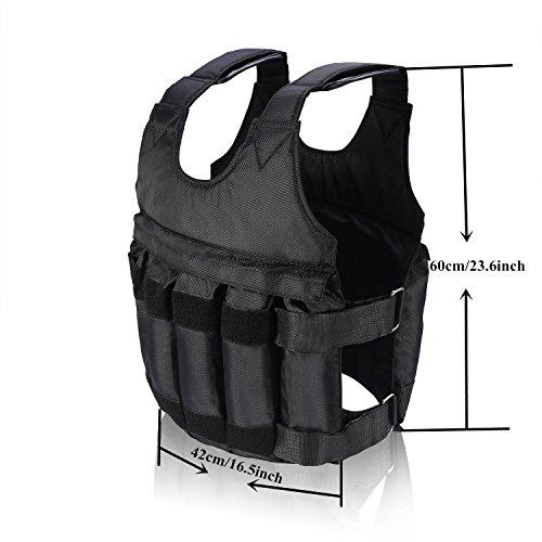 Fdit Chaleco de Entrenamiento con Pesas Ajustables, 20 kg (Peso no Incluido)