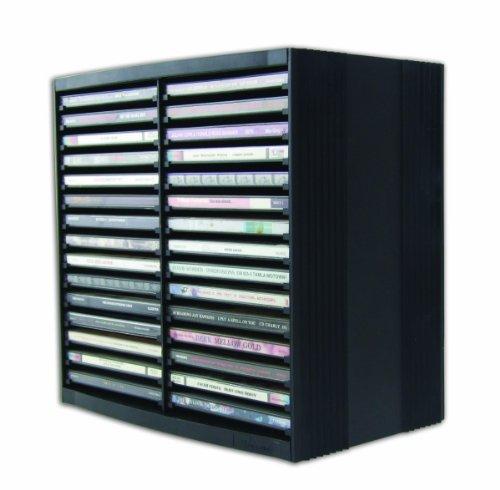 Fellowes - Soporte para CD, 26.00 x 26.50 x 16.50 cm, color negro