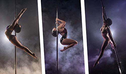 Femor Pole Dance Barra para Baile Sexies de Acero Inoxidable, Diámetro de 45mm, Longitud de 2.235m - 2.745m, Ideal para Ejercitarse y Practicar Giros Dinámicos, es Ideal para Casa, Gimnasio o Bar