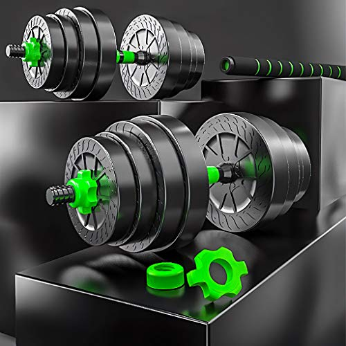 FFDL 2IN1 Kit Pesas Gimnasio En Casa Kit Pesas Y Barra Pesas Multifuncional Pesa Ajustable con Pesas Adecuado para Gimnasio, Culturismo, Entrenamiento. 10kg/22lbs