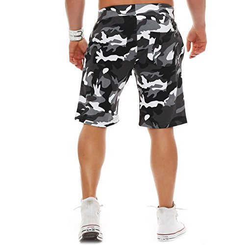 Finchman 96Z45 Herren Cotton Sweat Short Kurze Hose Bermuda Camo Grau M