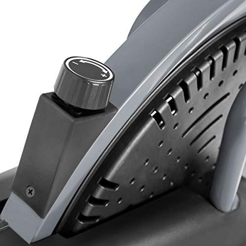 FITFIU Fitness BELI-120 - Bicicleta Elíptica con sillín regulable, multifunción Elíptica y Estática magnética, pantalla LCD, Pulsómetro y disco de inercia de 5kg ideal Entrenamiento Fitness