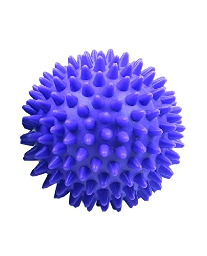 Fitness-Mad Bola de masaje de punta Spiky de Masaje, Unisex adulto, Púrpura, 7cm