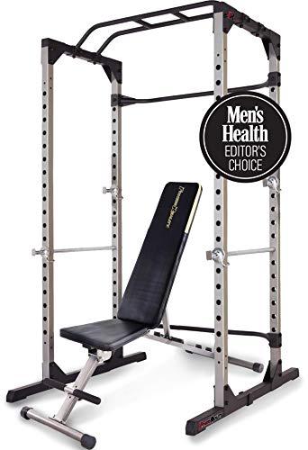 Fitness Reality 810XLT Super MAX Power Cage y 1000 Super MAX - Banco de Pesas (363 kg de Carga máxima)