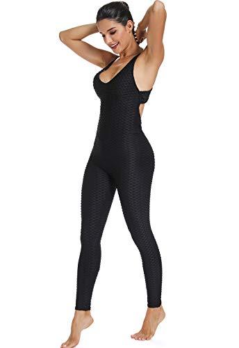 FITTOO Mallas Pantalones Deportivos Leggings Mujer Yoga de Alta Cintura Elásticos y Transpirables para Yoga Running Fitness con Gran Elásticos1370 Negro M