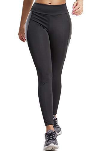 FITTOO Mallas Pantalones Deportivos Leggings Mujer Yoga de Alta Cintura Elásticos y Transpirables para Yoga Running Fitness con Gran Elásticos680 Negro XL