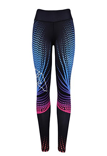 FITTOO Mallas Pantalones Deportivos Leggings Mujer Yoga de Alta Cintura Elásticos y Transpirables para Yoga Running Fitness con Gran Elásticos890 Negro L