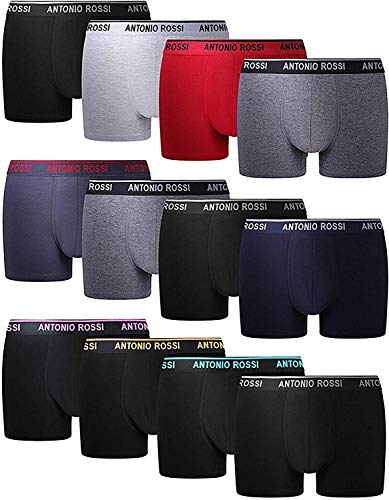 FM London HIPSTER, Calzoncillos para Hombre, Mulitcolor, Large, Pack of 12
