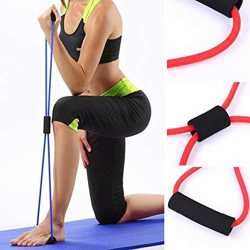 Framy 8 Palabra Resistencia Tipo De Correa En El Pecho De Fitness Tire Yoga Tubo De La Cuerda De Goma Muscular Entrenamiento Estiramiento Crossfit Equipo Elastic Band,Verde