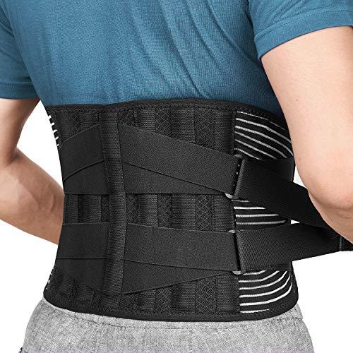 FREETOO Cinturón de Apoyo Lumbar, Cinturón de Presión Ajustable de Doble Capa, Ligero y Transpirable Faja de Espalda para la Protección en el Trabajo, Dolor de Espalda(Actualizar L/XL)