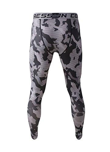 Fringoo - Mallas de compresión para hombre (para correr, gimnasio, largo, térmicos)