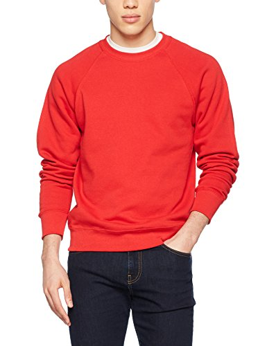 Fruit Of The Loom 62-216-0, Sudadera Para Hombre, Rojo (Red), Large