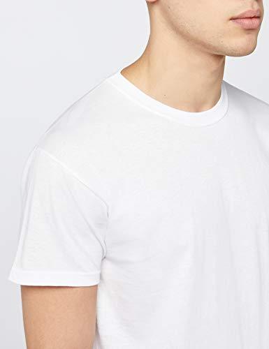 Fruit of the Loom Mens Original 5 Pack T-Shirt Camiseta, Blanco (White), Large (Pack de 5) para Hombre