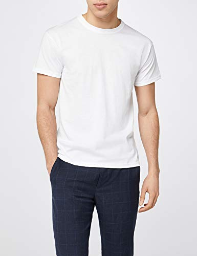Fruit of the Loom Mens Original 5 Pack T-Shirt Camiseta, Blanco (White), X-Large (Pack de 5) para Hombre