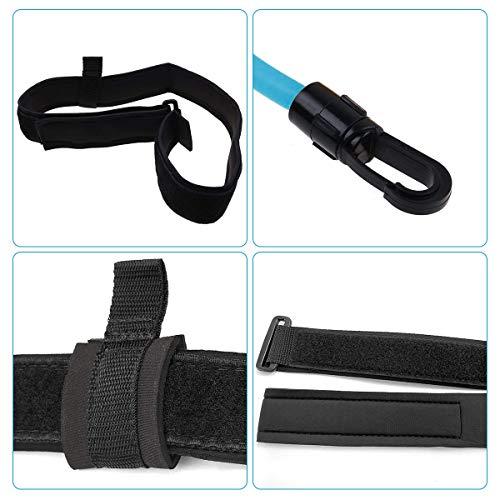 Frusde Cinturón de Natación, Exteriores Cinturón de Resistencia para Natación, Cinturón de Entrenamiento de Natación, Ajustable Cuerda Elástica Duradera para Entrenamiento de Piscina