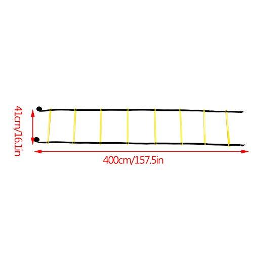 Fsskgxx Escalera de Agilidad de Velocidad, Escalera de Salto del Kit de Entrenamiento de flexibilidad de fútbol de 4 m
