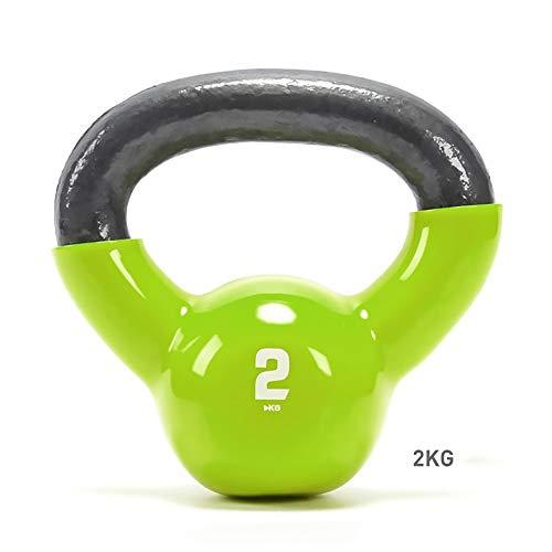 FWQAZ Kettlebell Hierro Fundido 2-32 kg - Pesa Rusa con Revestimiento de Neopreno + PDF Workout