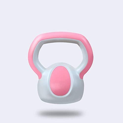 FWQAZ Pesa Rusa de Ejercicio Kettlebell 2kg, 4kg Y 6kg Ideal para Entranamiento de Musculación Crosstraining   Revestimiento de Vinilo Colores Rosa, Azul y Amarillo