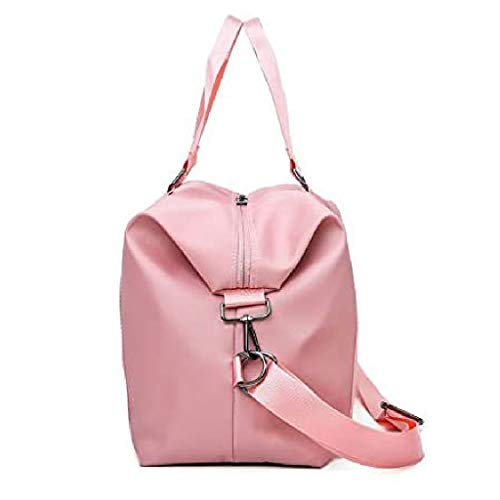 FXXYS Duffel Plegable Bolsa de Viaje, Bolsa de Equipaje de Mano, Equipaje de Viaje Ligero Bolsa de Deportes, Gimnasio, Alquiler (Color : Pink)