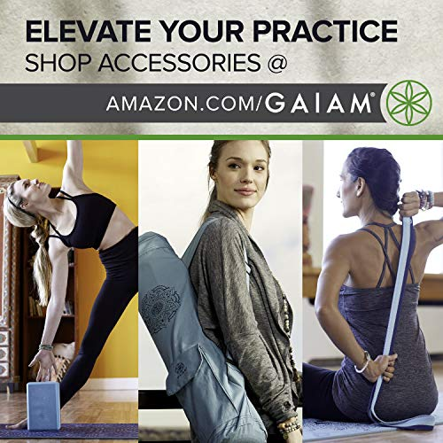 gaiam – Esterilla Plegable para Yoga, 2 mm, Azul