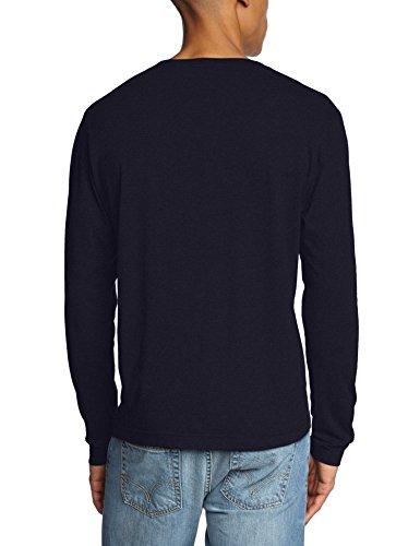 GANT The Original Long Sleeved T-Shirt Camisa Manga Larga, Azul (Evening Blue), XXX-Large para Hombre