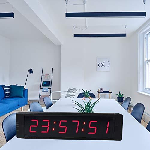 """ganxin multifuncional 1""""alta 6dígitos LED reloj de pared, con cuenta atrás/Up temporizador Digital, 12/24horas tiempo real reloj, cronómetro por mando a distancia"""
