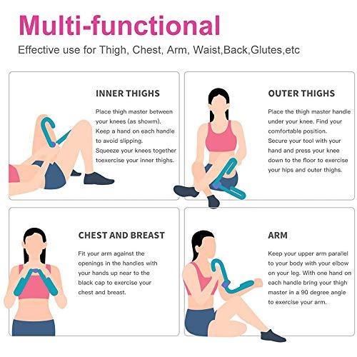 GAOGE Equipo para Cortar Muslos Recortadora de tonificación Multifuncional Equipo de Entrenamiento Muscular de piernas Entrenamiento en casa (Morado)