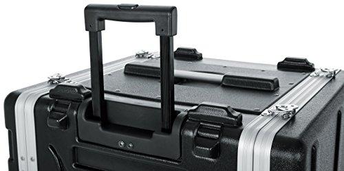 Gator Moldeado PE 6U Case rack 19.25 pulgadas con mango delantero / trasero Rails / Tirar / empotrada Ruedas y bloqueo, 6 U