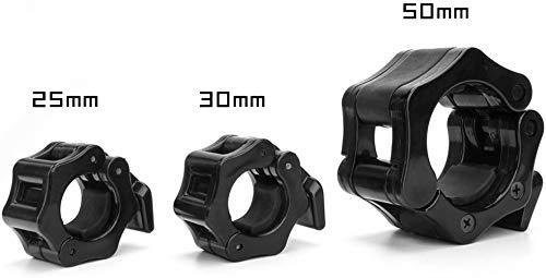 Gearific Collar de Abrazadera con Barra, 1 par de Collar de Bloqueo de Abrazadera con Barra olímpica de liberación rápida Ideal para Entrenamiento de Gimnasio Pro Crossfit Gym (25mm)
