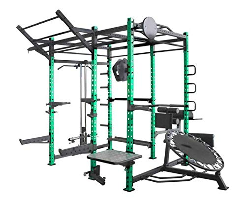 Genérico Green Tower, Functional Tower, Crossfit Power Cage, Power Rack Gym, Pull Up, Chin up, Triceps Biceps
