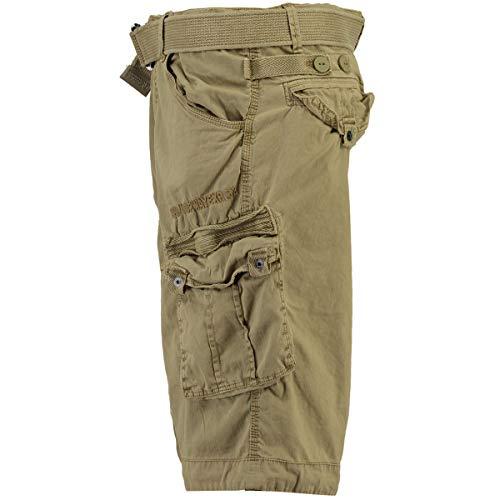 Geographical Norway People - Pantalón corto para hombre beige XL