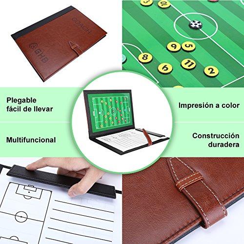GHB Carpeta Táctica Plegable para Entrenamiento de Fútbol con Accesorios
