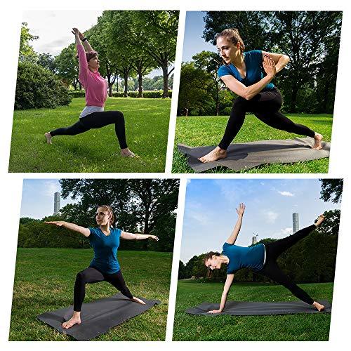 Gimdumasa Pantalón Deportivo de Mujer Cintura Alta Leggings Mallas para Running Training Fitness Estiramiento Yoga y Pilates GI188 (Negro, S)