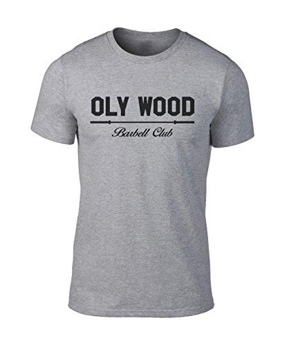 GO HEAVY Camiseta para Hombre OLY Wood Gris – S
