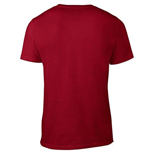 GO HEAVY T-Shirt Hombres | Camisa de Manga Corta para Fitness Gym y Entrenamiento Deportivo | Gains Rojo M