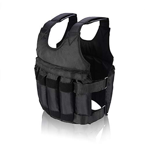 Gorgeri ponderado chaleco, del entrenamiento del ejercicio Fitne 50 kg Cargando ajustable Peso Entrenamiento cargado Chaleco
