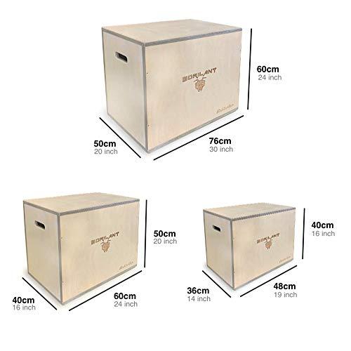 Gorilant - Cajon Pliometrico Madera de Abedul BB, Entrenamiento Crossfit, Plyo Box, cajón para Saltos, tamaño S, M, L (Cajon L 76x60x50)