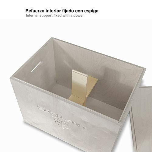 Gorilant - Cajon Pliometrico Madera de Abedul BB, Entrenamiento Crossfit, Plyo Box, cajón para Saltos, tamaño S, M, L (Cajon M 60x50x40)